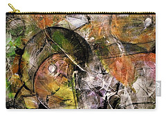 Carry-all Pouch featuring the painting Abstract #330 by Jim Whalen