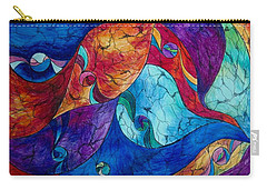 Carry-all Pouch featuring the drawing Abstract 6 by Megan Walsh