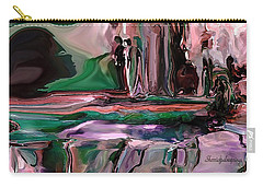 Carry-all Pouch featuring the digital art abstract A Time And A Different Place  by Sherri Of Palm Springs