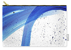 Abstract Acrylic Painting Blues Series 4 Carry-all Pouch