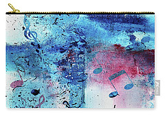 Abstract Acrylic Painting Music Notes II Carry-all Pouch