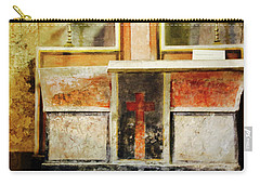 Carry-all Pouch featuring the photograph Abstract Altar by Rasma Bertz