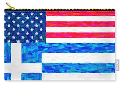 Abstract American Greek Flag Carry-all Pouch