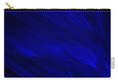 Abstract Art - Feathered Path Blue By Rgiada Carry-all Pouch
