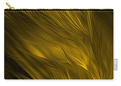 Carry-all Pouch featuring the digital art Abstract Art - Feathered Path Gold By Rgiada by Giada Rossi