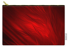 Carry-all Pouch featuring the digital art Abstract Art - Feathered Path Red By Rgiada by Giada Rossi