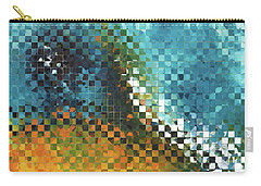 Carry-all Pouch featuring the painting Abstract Art - Pieces 9 - Sharon Cummings by Sharon Cummings