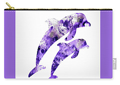 Abstract Art Purple Dolphins Carry-all Pouch