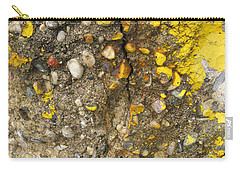 Abstract Art Seen In Parking Lot Carry-all Pouch by Sandra Church