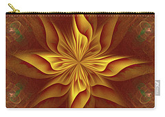 Carry-all Pouch featuring the digital art Abstract Art - The Harmony Of A Precious Soul By Rgiada by Giada Rossi