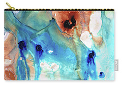 Carry-all Pouch featuring the painting Abstract Art - The Journey Home - Sharon Cummings by Sharon Cummings