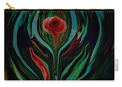 abstract Art The Rose A Symbol Of Love  Carry-all Pouch