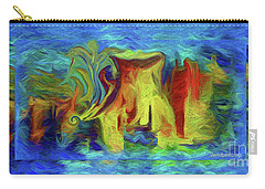 Abstract Artgo With The Flow Carry-all Pouch