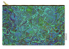 Abstract Azurite Carry-all Pouch
