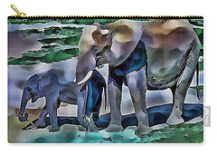 Abstract Baby Elephant  Carry-all Pouch