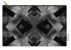 Carry-all Pouch featuring the photograph Abstract Barn Wood by Chris Berry