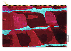 Carry-all Pouch featuring the photograph Abstract Black Walnut Ink by Tom Janca