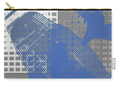 Abstract Blue And Grey 1 Carry-all Pouch