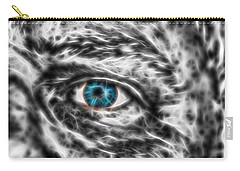 Carry-all Pouch featuring the photograph Abstract Blue Eye by Scott Carruthers
