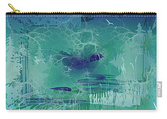 Carry-all Pouch featuring the digital art Abstract Blue Green by Robert G Kernodle