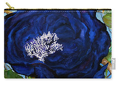 Abstract Blue Carry-all Pouch by Lil Taylor