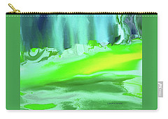 Carry-all Pouch featuring the painting Abstract - Blue Woods by Lenore Senior