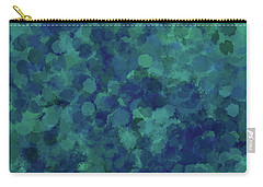 Carry-all Pouch featuring the mixed media Abstract Blues 1 by Clare Bambers