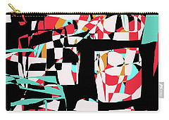 Carry-all Pouch featuring the digital art Abstract Boxes by Jessica Wright