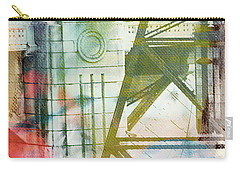 Abstract Bridge With Color Carry-all Pouch