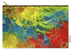 Abstract Bubble Feathers Carry-all Pouch by Lorella Schoales