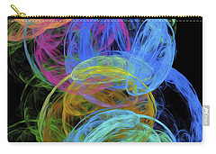 Carry-all Pouch featuring the digital art Abstract Bubbles by Andee Design