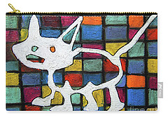Abstract Cat Carry-all Pouch by Gerhardt Isringhaus