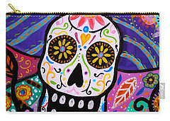 Carry-all Pouch featuring the painting Abstract Catrina by Pristine Cartera Turkus