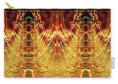 Abstract Christmas Lights #175 Carry-all Pouch
