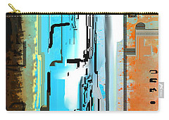 Abstract City Downtown Carry-all Pouch by Jessica Wright