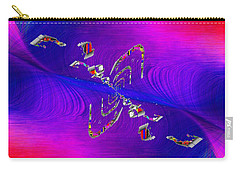 Carry-all Pouch featuring the digital art Abstract Cubed 350 by Tim Allen