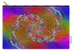Carry-all Pouch featuring the digital art Abstract Cubed 351 by Tim Allen