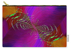 Carry-all Pouch featuring the digital art Abstract Cubed 352 by Tim Allen