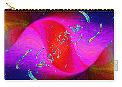 Carry-all Pouch featuring the digital art Abstract Cubed 354 by Tim Allen