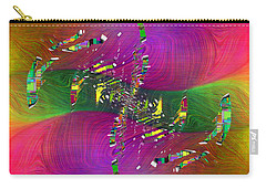 Carry-all Pouch featuring the digital art Abstract Cubed 357 by Tim Allen