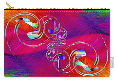 Carry-all Pouch featuring the digital art Abstract Cubed 360 by Tim Allen