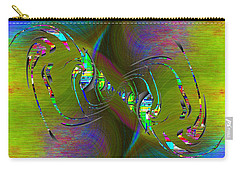 Carry-all Pouch featuring the digital art Abstract Cubed 361 by Tim Allen