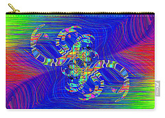 Carry-all Pouch featuring the digital art Abstract Cubed 362 by Tim Allen
