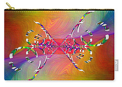 Carry-all Pouch featuring the digital art Abstract Cubed 364 by Tim Allen