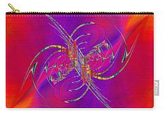 Carry-all Pouch featuring the digital art Abstract Cubed 365 by Tim Allen