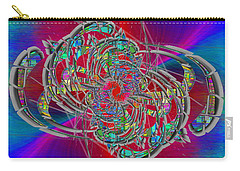 Carry-all Pouch featuring the digital art Abstract Cubed 367 by Tim Allen