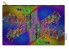 Carry-all Pouch featuring the digital art Abstract Cubed 368 by Tim Allen