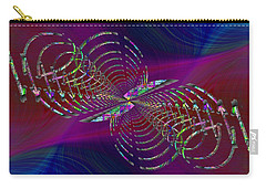 Carry-all Pouch featuring the digital art Abstract Cubed 369 by Tim Allen