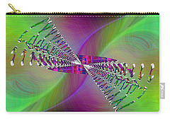 Carry-all Pouch featuring the digital art Abstract Cubed 370 by Tim Allen