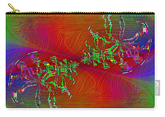 Carry-all Pouch featuring the digital art Abstract Cubed 371 by Tim Allen